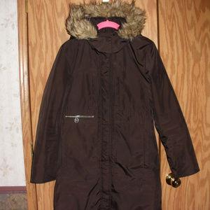 Michael Kors Chocolate Brown Long Coat S
